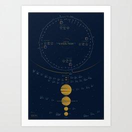 2016 Visual Calendar Art Print