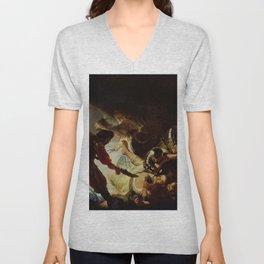 Rembrandt - The Blinding of Samson Unisex V-Neck