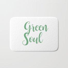 Green soul lettering Bath Mat