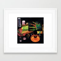 sci fi Framed Art Prints featuring sci-fi beach by Hugo Barros