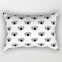 Graphic Black and White Eye Pattern Rectangular Pillow