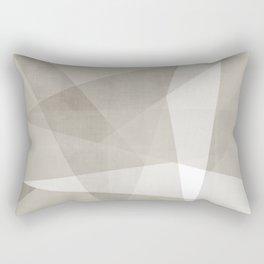 Desert Shadow No. 2  | Abstract in Neutrals Rectangular Pillow