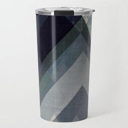mountain art, geometric art, contemporary art print, modern art print, colorful wall art, midcentury Travel Mug