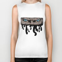 infamous Biker Tanks featuring Comic eyes (infamous) by  Steve Wade ( Swade)
