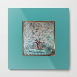 Tree & Snake Metal Print