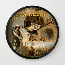 Vintage Richard III Theatre Poster Wall Clock