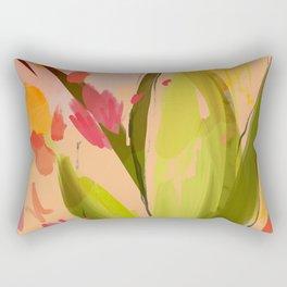 Abstract Floral Textures on Sun Tones. Rectangular Pillow