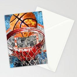 Modern basketball art print swoosh 158 - Basketball artwork poster Stationery Cards