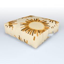Art Deco Starburst Outdoor Floor Cushion