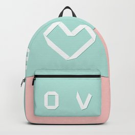 Paper love on mint green Backpack