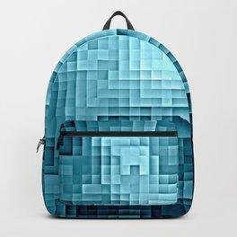 Nebula Pixels Steel Teal Blue Backpack