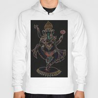 ganesh Hoodies featuring Ganesh by Zack Bryson