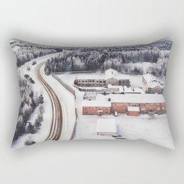 Winter view from the sky Rectangular Pillow