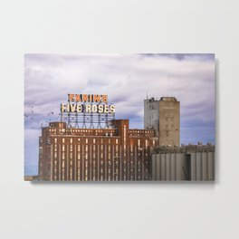 Montreal Farine Five Roses, Montreal Iconic, Urban photo, Architecture, modern Metal Print