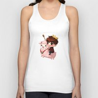 pasta Tank Tops featuring Shining Visual Ulzzang Male God of the Pasta Galaxy by kittyinabarrel