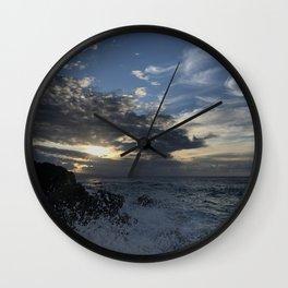 Sunset, Ocean, Wave, Maui Wall Clock
