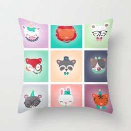 Zoo - Collection Dandynimo's - Throw Pillow