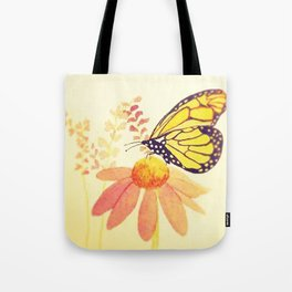 Butterfly on Coneflower in Summer by Twelve Little Tales Tote Bag