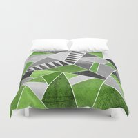 concrete Duvet Covers featuring Concrete Jungle by Elisabeth Fredriksson