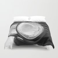 bmw Duvet Covers featuring vintage BMW headlights by ruthj