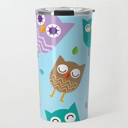 Owl Pattern Travel Mug
