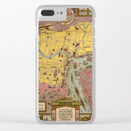 Map of Shanghai 1935 Clear iPhone Case