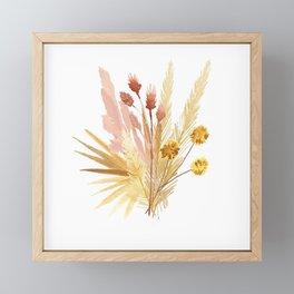 Mari's Bouquet of Dried Flowers Framed Mini Art Print