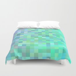 Square mosaic tiles Duvet Cover