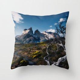 Cuernos del Paine Throw Pillow