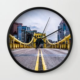 Road to city land Wall Clock