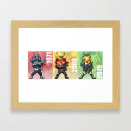 Generations of Masked Men Framed Art Print