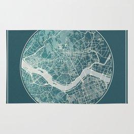 Seoul Map Planet Rug