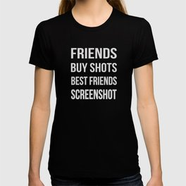 The Difference Between Friends and Best Friends T-shirt