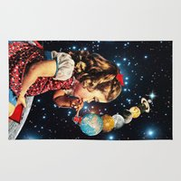 planet Area & Throw Rugs featuring Maker by Eugenia Loli