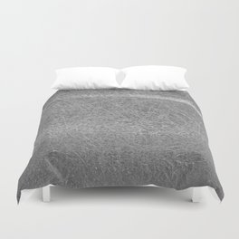 Crinkled Silver Foil Texture Christmas/ Holiday Duvet Cover