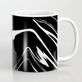 Black and White liquid Paint Splash Coffee Mug