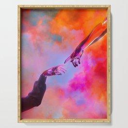 La Création d'Adam - Dorian Legret x AEFORIA Serving Tray
