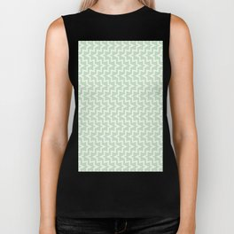 Sea Urchin - Light Green & White #609 Biker Tank