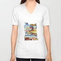 team fortress V-neck T-shirts featuring the fortress by Chicca Besso
