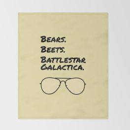 Bears. Beets. Battlestar Galactica. Throw Blanket