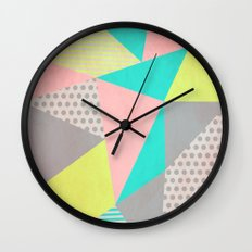 Geometric Pastel Wall Clock