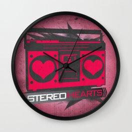 Stereo Hearts Wall Clock