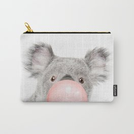 Funny koala with pink bubble gum Carry-All Pouch