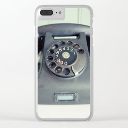 Old Rotary Telephone Clear iPhone Case