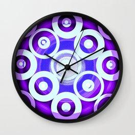 Circle To Purple Wall Clock