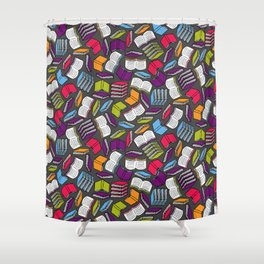 So Many Colorful Books... Shower Curtain