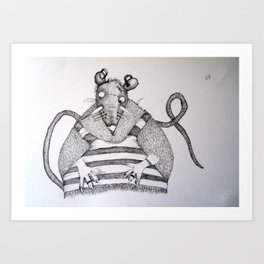 TOPO 2 Art Print