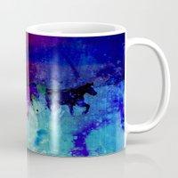 horses Mugs featuring Horses  by Latidra Washington
