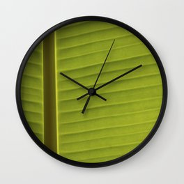 Banana Leaf II Wall Clock