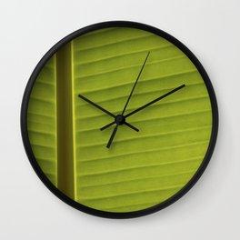 Banana Leaf II Wall Clock